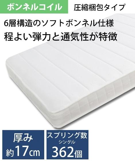 圧縮ロールボンネルコイルマットレス マットレス(ニッセン家具...