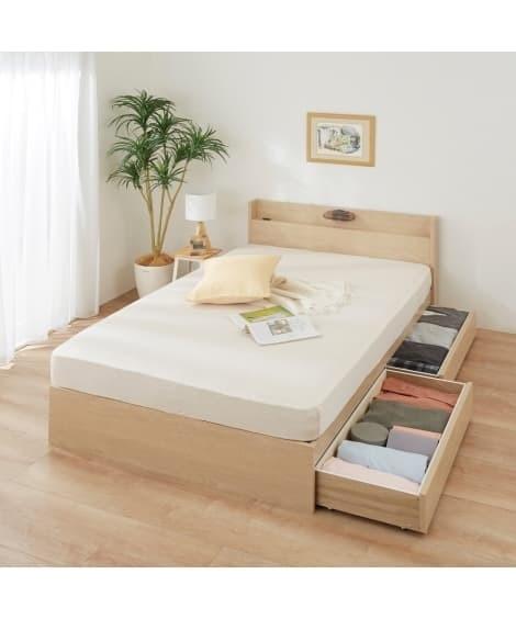 宮。照明。引き出し付ベッド