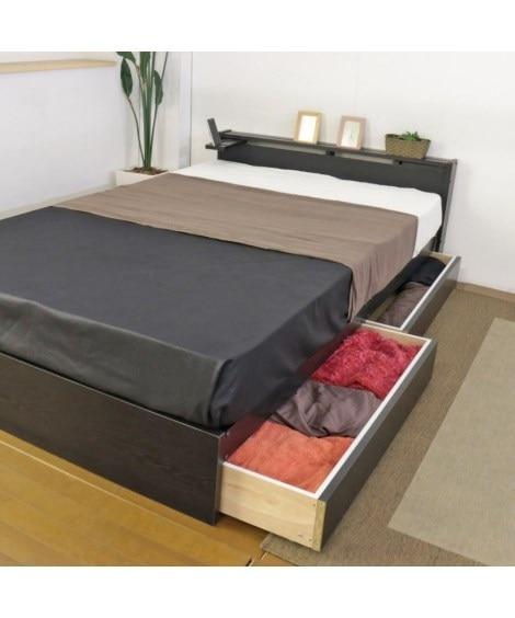 棚。スライドテーブル。引き出し付きベッド 収納付きベッド(ニ...