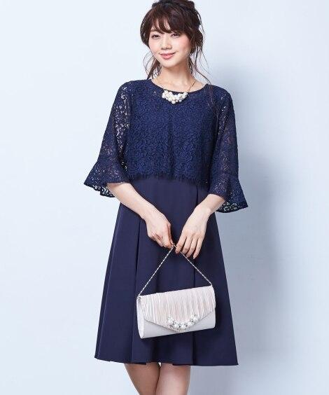 レースボレロブラウス2WAY前開きアンサンブルドレス【結婚式...