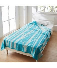 綿100%ジャカード織タオルケット(北欧調ツリー柄) タオルケット・肌掛け布団・キルトケットの商品画像