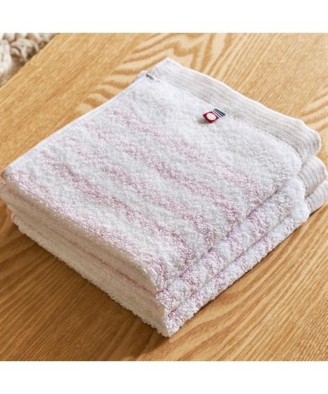 今治 ふんわりとしたボーダーが美しいハンドタオル(34×36) 同色3枚セット ハンドタオル・タオルハンカチ, Towels(ニッセン、nissen)
