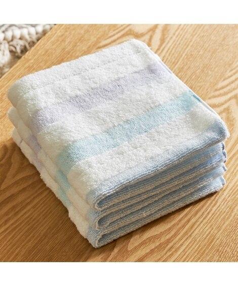 今治 パステルカラーのボーダーが鮮やかなハンドタオル(34×36) 同色3枚セット ハンドタオル・タオルハンカチ, Towels(ニッセン、nissen)