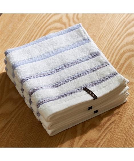 今治 シンプルなボーダーがかわいいハンドタオル(34×36) 同色3枚セット ハンドタオル・タオルハンカチ, Towels(ニッセン、nissen)