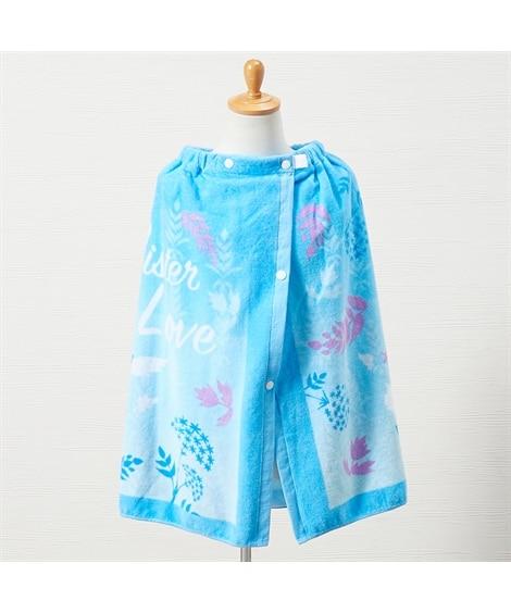 アナと雪の女王2 シスターズブルー 60cm丈ラップタオル【制菌加工】 タオル, Towels(ニッセン、nissen)