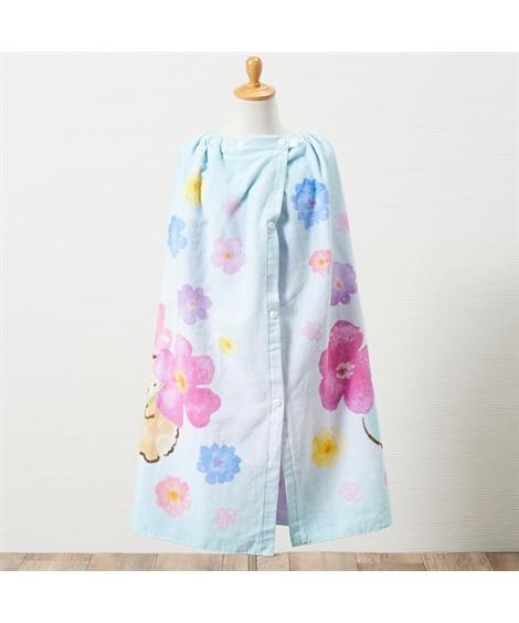 制菌加工 すみっコぐらし すいさいすみっコ 80cm丈ラップタオル タオル, Towels(ニッセン、nissen)