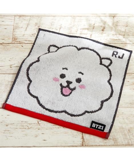 BT21キャラクタータオルハンカチ(25×25)(フェイス) 同色2枚セット ハンドタオル・タオルハンカチ, Towels(ニッセン、nissen)