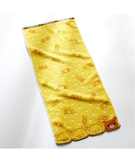【リラックマ】アップリケ 刺繍 フェイスタオル フェイスタオル, Towels(ニッセン、nissen)