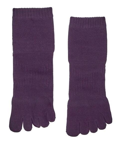 ウォーキングにオススメ!編地変化で履き心地快適!5本指ミドル丈ソックス2足組 メンズ靴下, Men's Socks