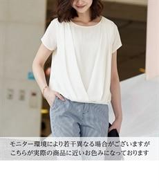 <ニッセン> 防汚加工。吸汗速乾前レース切替ブラウス (ブラウス)Blouses Shirts 2