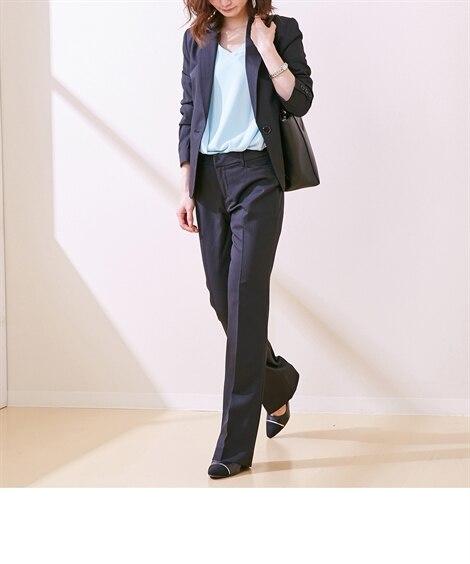 シャドウストライプパンツスーツ(テーラードジャケット+ストレ...