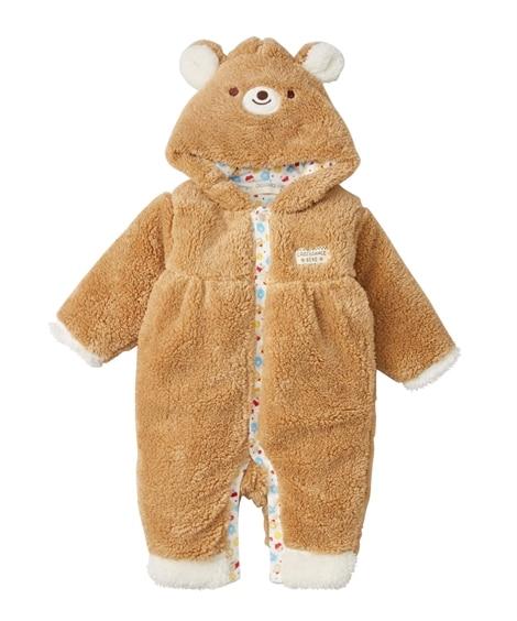 シープボアフード付き長袖カバーオール(男の子。女の子 子供服...