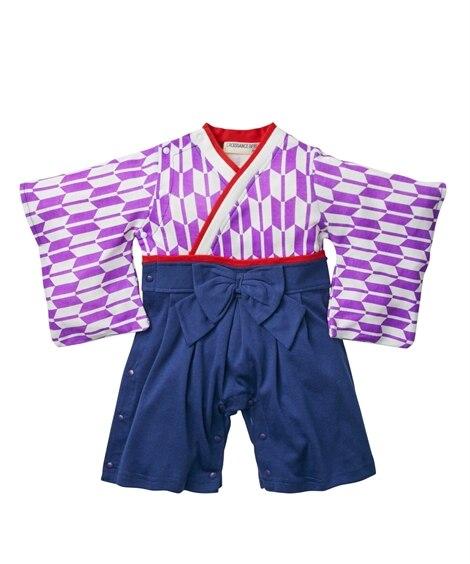 矢絣 和風袴ロンパース(女の子 子供服。ベビー服) 【ベビー...