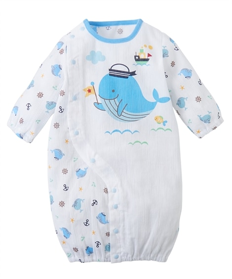 薄手コットン 長袖ツーウェイドレス(ベビー服・子供服 男の子・女の子) 【ベビー服】Babywear
