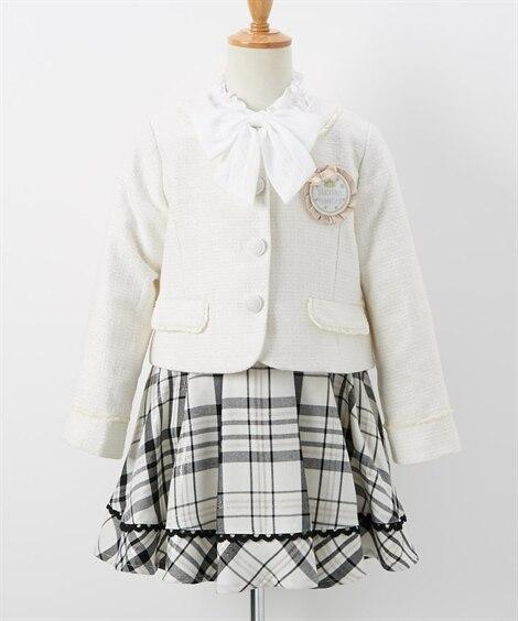 【卒園。入学】フォーマルスーツ(ジャケット+スカート+ブラウ...