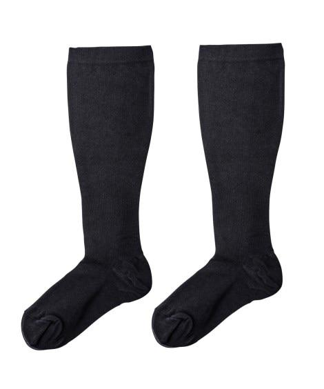 足口ゆったり着圧ハイソックス 【女性靴下】ハイソックス...