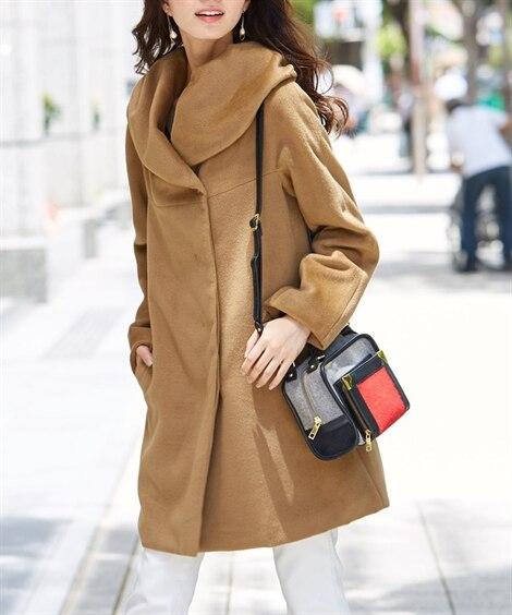 ビッグカラーフードコート 【レディース】コート...