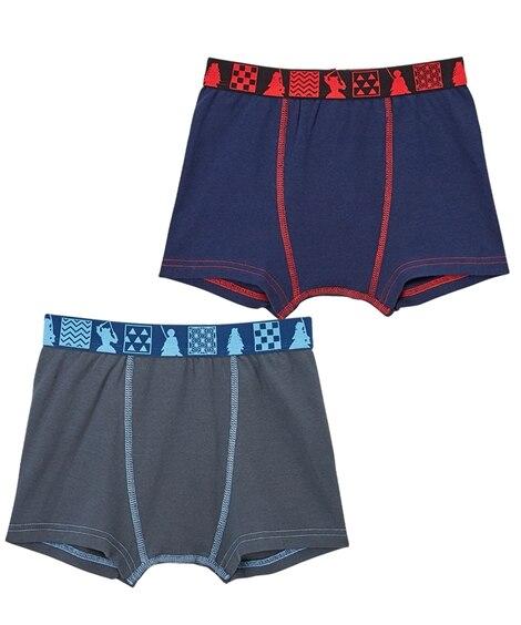 【鬼滅の刃】ボクサーパンツ2枚組(男の子 子供服・ジュニア服) キッズ下着, Kid's Underwear