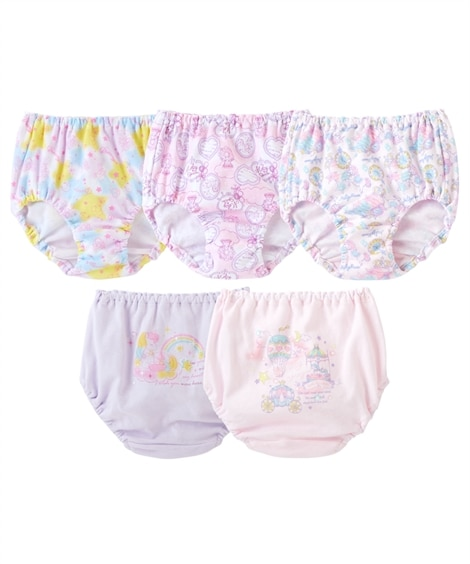 綿100%ショーツ5枚組(女の子 子供服。ジュニア服) キッズ下着, Kid's Underwear