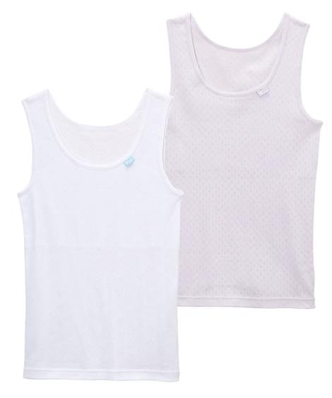 綿100% 胸二重タンクトップ2枚組(女の子 子供服。ジュニア服) キッズ下着, Kid's Underwear