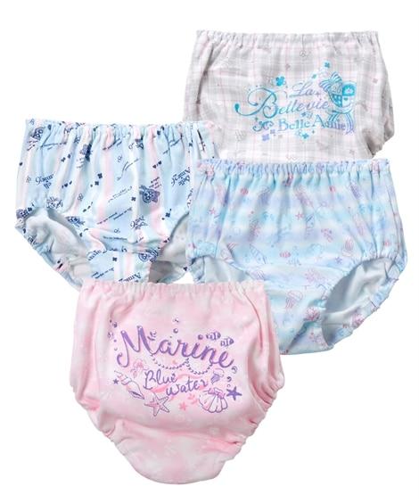 【日本製】綿100%ショーツ4枚組(女の子 子供服。ジュニア服) キッズ下着, Kid's Underwear