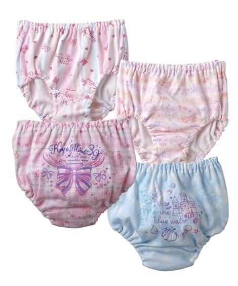 【日本製】綿100%ショーツ4枚組(女の子 子供服) キッズ下着, Kid's Underwear