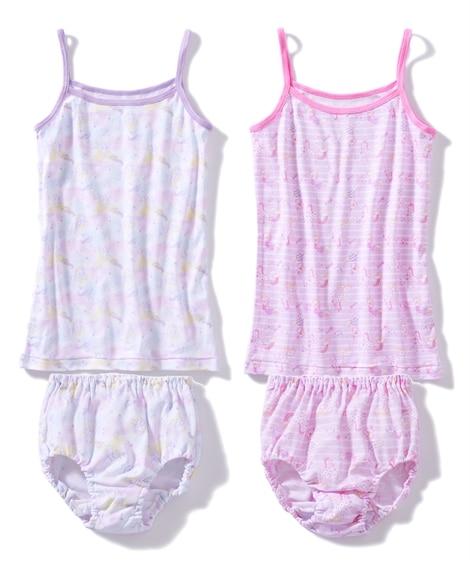 綿100%インナー4点セット(キャミソール2枚+ショーツ2枚)(女の子 子供服) キッズ下着, Kid's Underwear