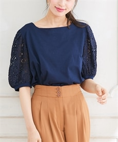 <ニッセン> 袖コンシャスプルオーバー (大きいサイズレディース)Tシャツ・カットソー 13