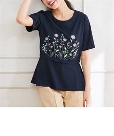 <ニッセン> 袖コンシャスプルオーバー (大きいサイズレディース)Tシャツ・カットソー 14