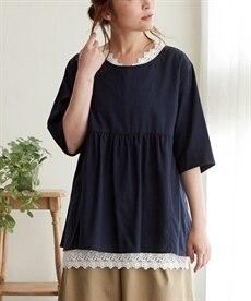 <ニッセン> 袖コンシャスプルオーバー (大きいサイズレディース)Tシャツ・カットソー 21