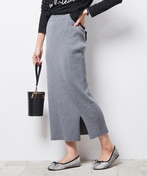 シックスタイル ニットロングタイトスカート (大きいサイズレ...