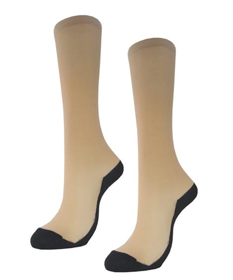まるでストッキングを履いたような靴下 フットカバータイプ 2...