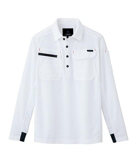 <ニッセン> AZ-10608 アイトス 長袖ポロシャツ(男女兼用) 作業服
