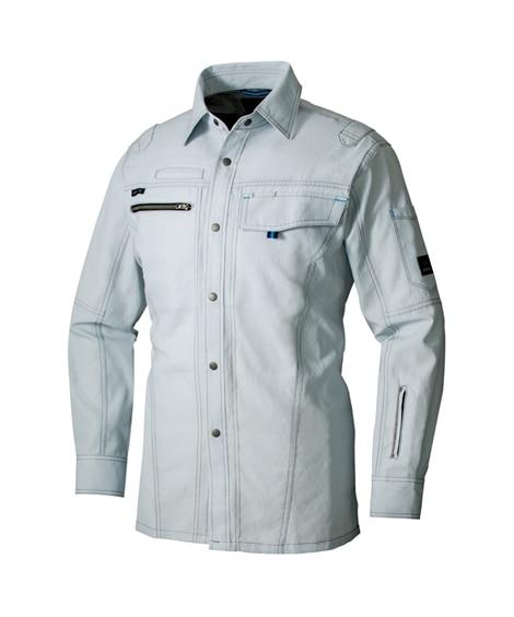 <ニッセン> AZ-30435 アイトス 長袖シャツ(男女兼用) 作業服