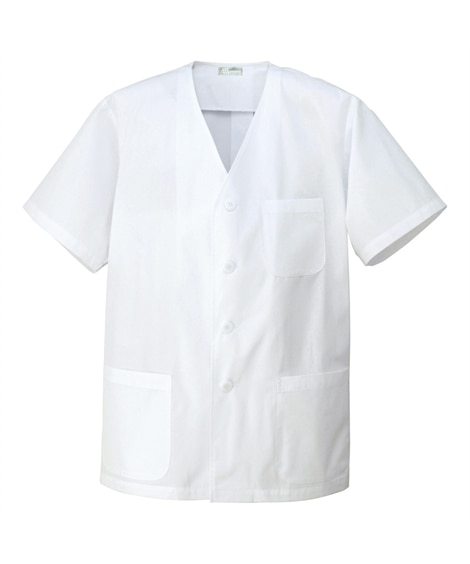 HH322 アイトス メンズ衿なし半袖調理着 作業服