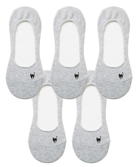 ココピタ 脱げにくい丸編みやや深履きカバーソックス5足組(フリーサイズ) カバーソックス, Socks