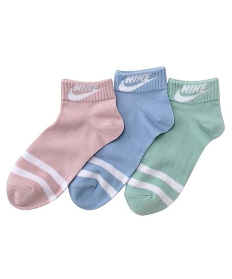 【NIKE】女の子 ショートソックス3足組 キッズ靴下, K...
