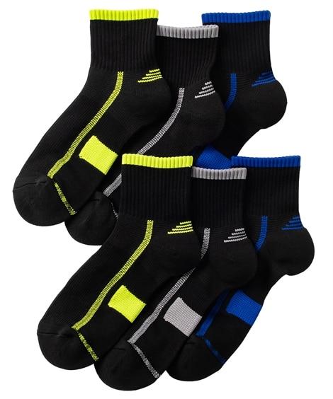 丈夫なつま先。かかとパイル制菌。消臭ワークアンクルソックス3足組 メンズ靴下, Men's Socks