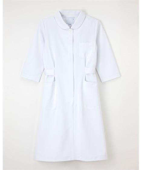 (HO-1916)【ナガイレーベン】7分袖ワンピース ナースウェア・白衣・介護ウェア