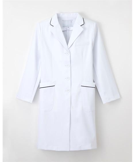 ナガイレーベン FT-4550 女子シングルドクターコート(女性用) ナースウェア・白衣・介護ウェア