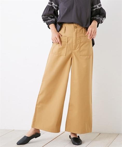 チノワイドパンツ (レディースパンツ),pants