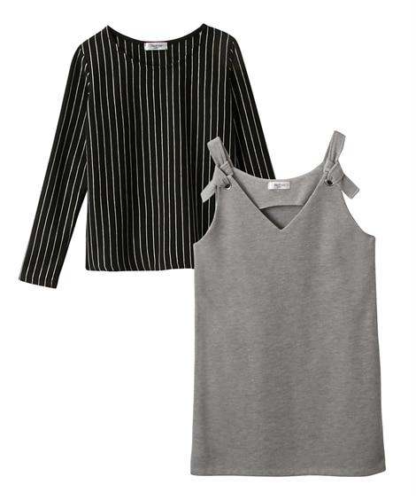2点セット(ジャンスカ+Tシャツ)(女の子 子供服。ジュニア...
