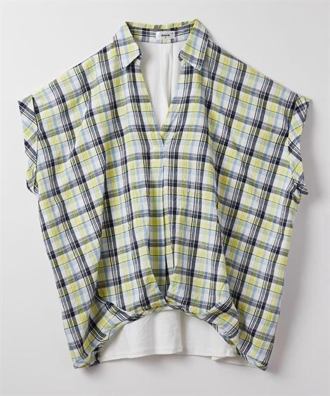 ストール付フロントタックスキッパーシャツ (ブラウス),Bl...
