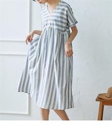 <ニッセン> スカラップ刺しゅうノースリーブワンピース (ワンピース)dress 1
