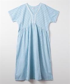 <ニッセン> スカラップ刺しゅうノースリーブワンピース (ワンピース)dress 2