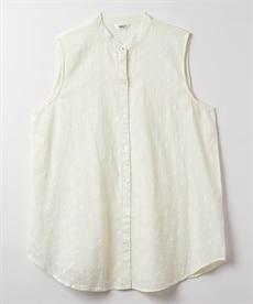 <ニッセン> スカラップ刺しゅうノースリーブワンピース (ワンピース)dress 3