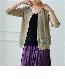 <ニッセン> スカラップ刺しゅうノースリーブワンピース (ワンピース)dress 9