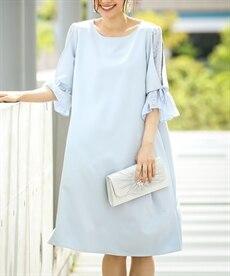 <ニッセン> スカラップ刺しゅうノースリーブワンピース (ワンピース)dress 12