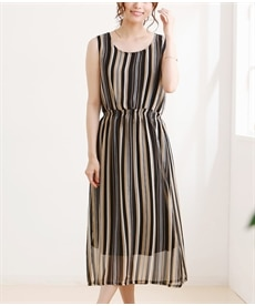 <ニッセン> スカラップ刺しゅうノースリーブワンピース (ワンピース)dress 19