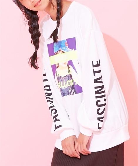 転写プリントチュニック(女の子 子供服。ジュニア服) (トップス・チュニック)Tops, 上衣